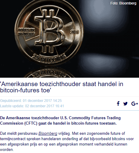 Bitcoin goed nieuws